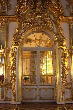 Doors at Catherine Palace, St. Petersburg.  photo by Morgan Thomas