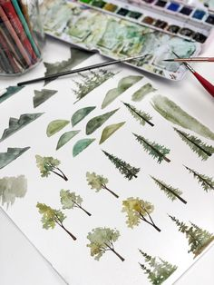 Watercolor Trees Loose watercolor illustrations of trees hills and mountains. The post Watercolor Trees appeared first on Diy Flowers. Watercolor Painting Techniques, Sketch Painting, Watercolour Tutorials, Watercolour Painting, Watercolors, Tattoo Watercolor, Watercolor Trees, Watercolor Cards, Watercolor Landscape