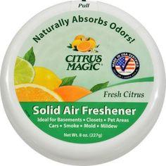 Citrus Magic Solid Air Freshener - 8 oz - Case of 6