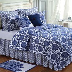 Davenport Dahlia Floral Quilt Bedding - LOVE