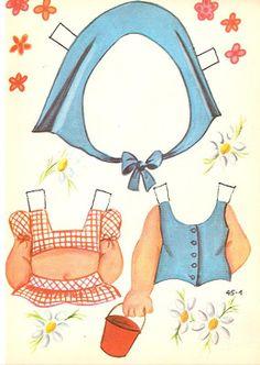 Bonecas de Papel: cabeçudas coleção MIS MUÑECAS