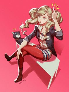 Persona 5 - Ann is not the lady Mona thinks ^^() Persona 5 Ann, Persona Five, Persona 5 Joker, Character Art, Character Design, Gato Anime, Lady Ann, Shin Megami Tensei Persona, Akira Kurusu