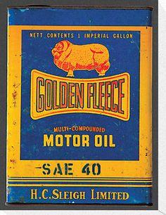 Nostalgic Golden Fleece motor oil tin T-Shirt by blulime