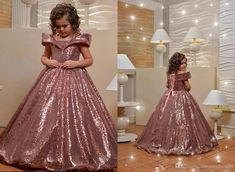 2020 Glitter Rose Gold Sequin Off Shoulders Flower Girls Dresses For Wedding Birthday Party Cinderella With Sleeves First Communion Dress Formal Dresses Party Dresses From Stunningdress88, $59.55| DHgate.Com Girls Pageant Dresses, Party Dresses, Wedding Dresses, Dress Formal, Formal Prom, Flower Girls, Flower Girl Dresses, Glitter Roses, Wedding Girl