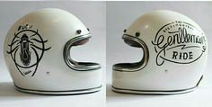 Suzuki Van Van, Biker Accessories, Vintage Helmet, Custom Bmw, Cafe Racer Style, Helmet Design, Kustom Kulture, Pinstriping, Motorcycle Helmets