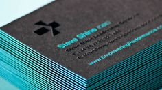 Logo and triplex business card with deboss foil detail designed by Analogue for management professional Steve Shine