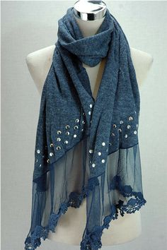 New stocks of winter scarves and diamante fingerless mittens at SerenArts Gallery Head Scarf Styles, Cute Scarfs, Diy Scarf, Designer Scarves, Scarf Design, Winter Scarves, Colorful Fashion, Womens Scarves, Blouse Designs