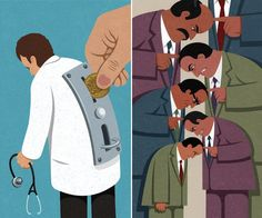 Satirical Illustrations Show The Lives And Struggles People Face Today