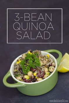 3-Bean Quinoa Salad: Lots of protein! #ChooseSmart #ad