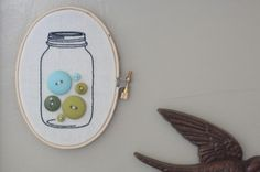 embroidery with buttons