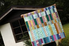 Lake Cabin: Finished Quilt + Pattern — Stitched in Color