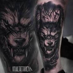 Image result for wolf tattoo realistic