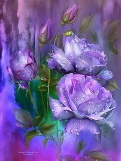 Isabel Maldonado Purple roses painting