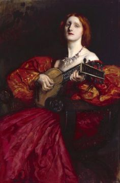 American Art Gallery: A Lute Player by Edwin Austin Abbey. Edwin Austin Abbey, Royal Academy Of Arts, Pre Raphaelite, Oil Painting Reproductions, Art Uk, Your Paintings, Paintings Online, Unique Paintings, Matisse
