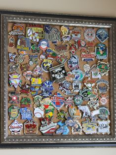 You could do something like this for your tickets.  Cooperstown Baseball Pins