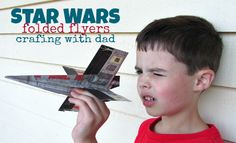 Make the coolest Star Wars paper airplanes.
