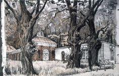 Акварели АЛЕКСАНДРА БЕНУА. АЛЕКСАНДР НИКОЛАЕВИЧ БЕНУА 1870–1960