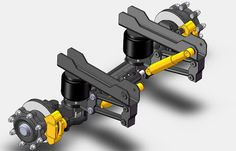 ROELECTRONICA - A COOL REAR AXLE SUSPENSION SOLIDWORKS MODEL
