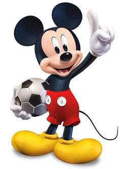 Disney's Mickey Mouse:) This as a cake but with a basketball instead of soccer and holding up two fingers instead of 1. For Miles Bdaycake