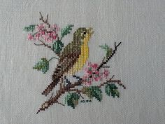 Cross Stitch Bird, Cross Stitch Borders, Cross Stitch Flowers, Cross Stitch Embroidery, Cross Stitch Patterns, Needlepoint, Needlework, Birds, Design