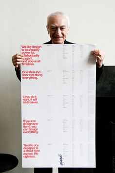 Massimo Vignelli and some of his famous sayings