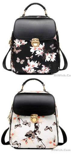 Fresh Girl Butterfly Flower School Bag Casual Backpack for big sale! - Fresh Girl Butterfly Flower School Bag Casual Backpack for big sale! Lace Backpack, Retro Backpack, Travel Backpack, Cute Backpacks, Girl Backpacks, Leather Backpacks, Leather Bags, Fashion Bags, Fashion Backpack