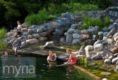 Waterfalls & natural swimming pond