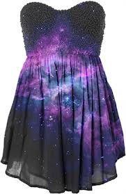 black purple galaxy dress