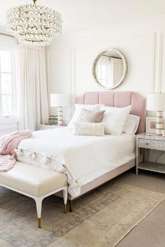 Romantic Bedroom Decor Ideas to Make Your Home More Stylish on a Budget - The Trending House Master Bedroom Design, Home Decor Bedroom, Bedroom Furniture, Bedroom Ideas, Master Suite, Bedroom Games, Mirror Bedroom, Furniture Dolly, Cheap Furniture