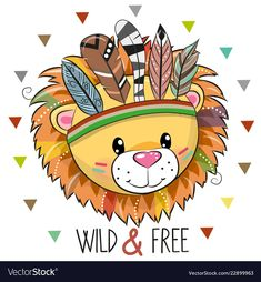 Illustration about Cute Cartoon tribal Lion with feathers on a white background. Illustration of cute, greeting, hippie - 129051510 Lion Tribal, Tribal Animals, Animal Drawings, Cute Drawings, Lama Animal, Cartoon Mignon, Feather Vector, Cute Lion, Lion Print