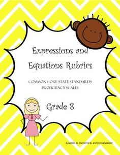 These proficiency scale rubrics comb apart each CCSS standard in this strand by delineating various cognitive demands. This set also includes one formative assessment matrix for each CCSS.Math.Content.EE.8 standard making it easy for teachers to plan, organize and execute formative assessments for student learning and growth!