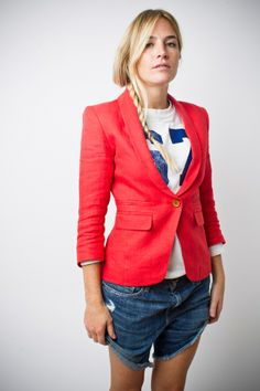 Smythe one button blazer in blood orange- this one is going to fly out the doors!!!