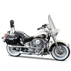 Miniatura Moto Harley-Davidson 1993 FLSTN Heritage Softail Maisto 1:18