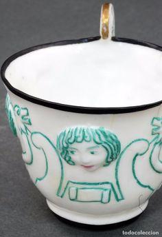 Taza cerámica Castro Sargadelos diseño Díaz Pardo años 50 .
