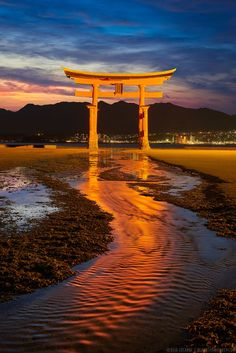 Itsukushima Torii Gate, Miyajima Island, Japan - Vermillion Tide - 朱色の潮流 - by Elia Locardi - on http://500px.com