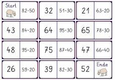 Domino zur Addition im ZR bis 100 Math Subtraction, Math 2, Math Addition, Play To Learn, Second Grade, Mathematics, Kindergarten, The 100, Homeschool