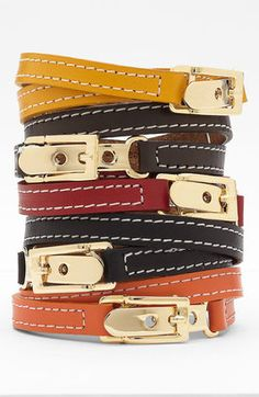 bracelets bracelets bracelets! - ShopStyle: Cara Accessories Leather Wrap Bracelet