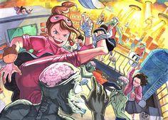 오늘의 포스팅은 ~ 상황표현들의 작품들을 좀 더 둘러보는 글입니다 ~ '전 만화보다 애니메이션 혹은 스토... Illustration Story, Character Illustration, Digital Illustration, Poster Color Painting, Asian Artwork, Art Lessons For Kids, Creative Artwork, Korean Artist, Cartoon Art