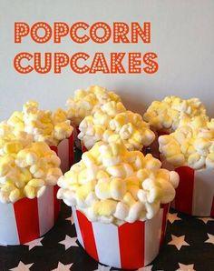 Popcorn cupcake