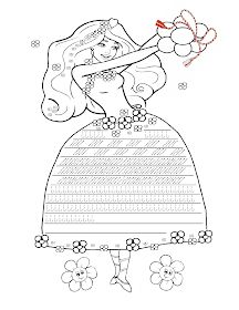 Fise de lucru - gradinita: Fisa cu Grafisme cu Zana Primavara - Decorati rochita Zanei Primavara Preschool Writing, Preschool Worksheets, Writing Activities, Pre Writing, Writing Skills, Spring Activities, Activities For Kids, Origami Shirt, Dots Game