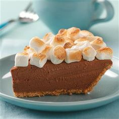 Dreamy S'more Pie Recipe -I love desserts and was looking for a way to use hazelnut spread when I came up with this recipe. I wanted something that could be prepped quickly, boom-boom-boom, and this is wonderful! —Karen Bowlden, Boise, Idaho