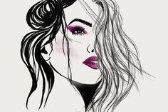 #illustration #fashionillustration #girl #face #art