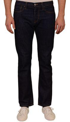 "ROGUE TERRITORY RGT ""Stanton"" Blue Cotton Slim Straight Selvedge Jeans EU 32 US 48"