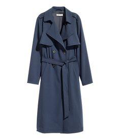 Trenchcoat   Dark blue   Ladies   H&M US