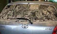 Unusual Dirty Car Art by Scott Wade | Bored Panda