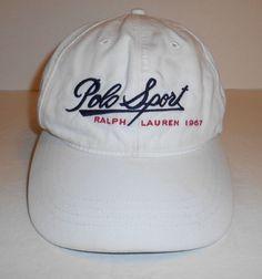 d53431cef9c Vintage Polo Sport Ralph Lauren Embroidered Script Hat White Adjustable  Strapbac  PoloSportRalphLauren  BaseballCap Polo