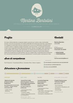 Love the header and the different approach with no white.  Creative Resume Design, Resume Style, CV, Curriculum Vitae  Creative Curriculum Martina Bartolini by Martina Bartolini, via Behance