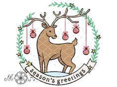 Schneidedatei / Plotterdatei Weihnachtshirsch (season's greetings) – Miri's Kreativblog