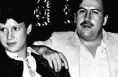 Wife Victoria and the famous Drug Lord of all time, Pablo Escobar. Pablo Emilio Escobar, Pablo Escobar, Colombian Drug Lord, Gangsta Gangsta, Family Life, Mansion, Drugs, Crime, Legends
