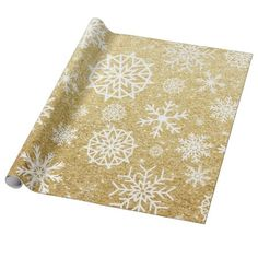 Winter Snowflake Gold Glitter Christmas Wrapping Paper Different kinds of snowflakes on the Gold glitter background and a black font Perfect to get into the Holiday spirit early. For Christmas, Winter, new year or any special occasions Gold Christmas, Winter Christmas, Christmas Themes, Xmas Holidays, Christmas Markets, Happy Holidays, Pink Glitter Background, Custom Wrapping Paper, Wrapping Papers
